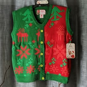 Ugly Christmas Sweater Vest Holiday Shapes